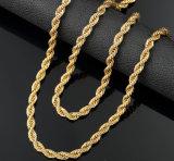 De Ketting van de Kabel van het Roestvrij staal van het gouden Plateren voor de Halsband en de Armband van de Manier