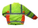 Revestimento reflexivo impermeável do Vis do Workwear do tempo da segurança olá!