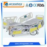 Letto di ospedale elettrico di cinque funzioni con la piattaforma traslucida dei raggi X