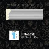 Moulage de tête de moulage de corniche d'unité centrale de panneau de mur de polyuréthane Hn-8692