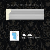 Moldeado de corona de la cornisa de la PU del panel de pared del poliuretano que moldea Hn-8692