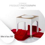Caja de madera blanca del regalo de boda del rectángulo moderno hermoso