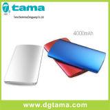 batería portable elegante solar de la potencia del cargador de la aleación de aluminio 4000mAh