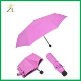Изготовленный на заказ логос печатание для рекламировать подарок твердого розового зонтика 21 дюйма цвета самого дешевого цветастого малого выдвиженческий для Ladis