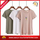 T-shirt diferente do branco do espaço em branco do tamanho do costume da roupa das mulheres