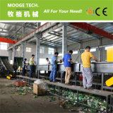 Lavage des bouteilles en plastique d'animal familier réutilisant des constructeurs de machine
