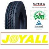Carro de la marca de fábrica de Joyall y neumático sin tubo del omnibus TBR con el certificado de Saso (11R22.5, 295/75R22.5)