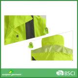 Rivestimento riflettente uniforme di riscaldamento giallo di sicurezza del lavoro di alta visibilità