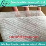 Nonwoven кудели Topsheet пеленки материальным прокатанный слоем выбивая гидрофильный