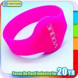 Bracelete Ultralight do silicone do controle de acesso MIFARE RFID da piscina