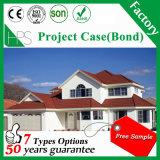 標準的な建築材料の石のコーティングの金属の屋根瓦の工場価格