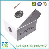Empaquetado cosmético del rectángulo del diseño plegable del Libro Blanco