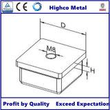 Capuchon carré de la main courante pour barrière en acier inoxydable