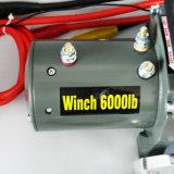4X4 12V/24V DCの回復電気ウィンチのオフロードウィンチ(6000LBS)
