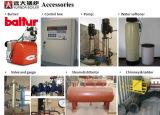 Caldeira de vapor com gás a quente e vapor