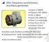 300Hz는 무브러시 AC DC 발전기 20-500kw 통화 Synclonous 이중으로 한다