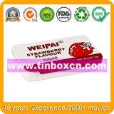 Коробка олова качества еды прямоугольная Mint, жестяная коробка камеди