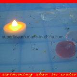 Ao ar livre Using velas de flutuação a pilhas de cintilação românticas impermeáveis do diodo emissor de luz Tealight para a associação