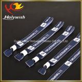 Insignia de encargo de la pulsera de la manera un Wristband de la materia textil del uso del tiempo