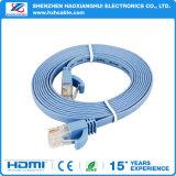 cable plateado oro de la red de la comunicación CAT6 de la alta calidad del 1.5m