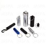 Rectángulo de aluminio Keychain de la píldora de la alta calidad