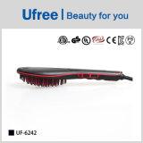 Escova confortável do Straightener do cabelo da pele da alta qualidade de Ufree