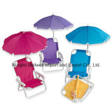 ポリエステル子供のビーチパラソルの折られた傘