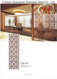 Edelstahl-Bildschirm-Leitschiene für Büro-Gebrauch (Blumenblatt-Muster)