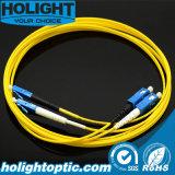 Sc a la cuerda de corrección óptica a dos caras de fibra del LC SM 2.0m m