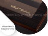 Boîte cadeau en caoutchouc verni en acajou MDF de haute qualité