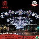 装飾のための通りのポーランド人のクリスマスの照明を渡って屋外LED Hollidayの星の天使IP65