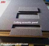 El panel acústico de la decoración del panel acústico del panel de pared del panel de techo de la fibra mineral (ISO, SGS certificados)