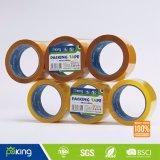 Roulis de bande de pellicule rigide de BOPP avec l'adhésif acrylique jaune de Brown/
