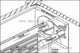 Motor da porta da garagem para alamedas de compra, fábricas, portas da garagem, abridor da porta do rolo, operador