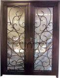Kundenspezifische schöne bearbeitetes Eisen-Haustür auf Fabrik-Preis