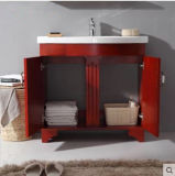 Тазик шкафа дуба ванной комнаты Soild деревянный просто европейский керамический