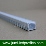 Perfil de aluminio delgado plano con la cubierta transparente o helada