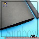 Calor preto elétrico alinhado do Polyolefin da parede adesivo pesado - câmara de ar shrinkable (3X)