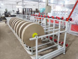 2 pistas empapelan el tubo que hace la máquina
