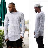 La longue chemise surdimensionnée étendent des hommes de T-shirt de Hip Hop