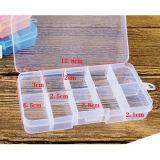 Ajustable de la caja de almacenamiento caja de plástico del organizador del hogar joyería de los granos Cajas