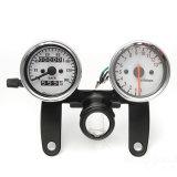 Mesure universelle d'indicateur de vitesse des scooters Tachometer+Odometer de moto avec la bride noire