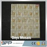 Mosaico di marmo beige, Onyx per la parete del materiale da costruzione della Camera e mattonelle di pavimento