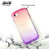Shs iPhone 7のためのよい手の感じの勾配カラー効果TPUの携帯電話の箱