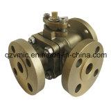 Válvula de bola de tres vías de acero inoxidable Q44f