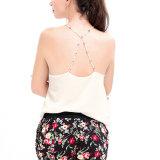 Moda Mulheres Chiffon Sleeveless Blackless Vest Clothes Blusa