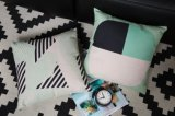 Almohadilla azul del amortiguador de la cubierta del algodón de Nordico del estilo del color de rosa de lino de la imagen