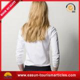 T-shirt de dames de chemise de qualité de coton de la coutume 100 long