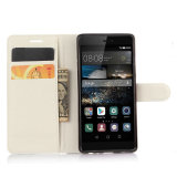 Premium Muti-Colori cassa del raccoglitore di cuoio del telefono dell'unità di elaborazione per Huawei P9