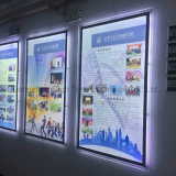 Magnetic Open Posters Frame Slim Acrílico LED Light Box